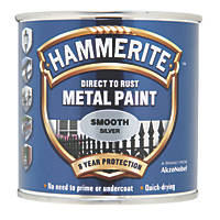 Hammerite Smooth Metal Paint Silver 250ml