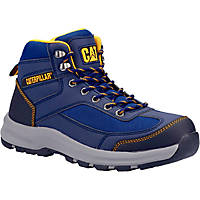 CAT Elmore Mid   Safety Trainer Boots Navy Size 7