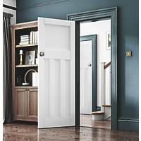 Jeld-Wen Deco Primed White Wooden 3-Panel Internal Door 1981 x 610mm