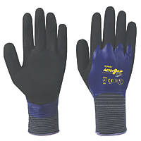 Towa ActivGrip CJ-569 Nitrile Fully-Coated Gloves Purple Large