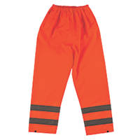 "Hi-Vis Waterproof Trousers Elasticated Waist Orange Medium 33-34"" W 30"" L"