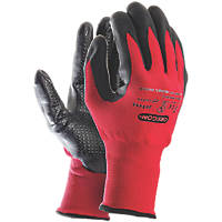 Oregon  Outdoor Working Gloves Red/Black Large
