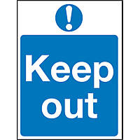 """Keep Out"" Sign 200 x 150mm"