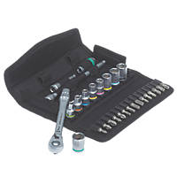 "Wera 05004018001-8100 SA 8  1/4"" Zyklop Metal Ratchet & Socket Set 28 Pieces"