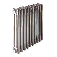 Acova  3-Column Horizontal Designer Column Radiator 600 x 812mm Raw Metal