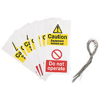 'Caution, Do Not Operate' Safety Maintenance Tags 10 Pack
