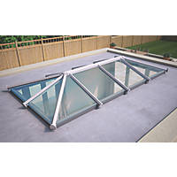 ATT Fabrications Ltd Clear Glass Roof Lantern White 4000 x 2000mm