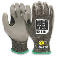 Tilsatec 50-6111-09 Gloves Black/Grey Large