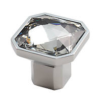 Carlisle Brass Crystal Square Furniture Knob Matt Nickel 38mm