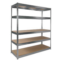 RB Boss Galvanised Boltless Freestanding Shelving 5-Tier 1600 x 600 x 1800mm