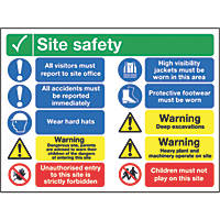 """Site Safety"" Sign 600 x 800mm"