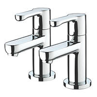 Bristan Nero Basin Pillar Taps Pair
