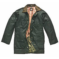 """Dickies Westfield Waxed Jacket Bottle Green Large 44-46"""" Chest"""