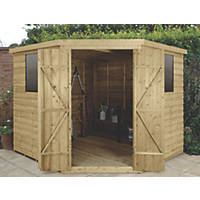 Forest  11' x 9' (Nominal) Flat Overlap Timber Shed