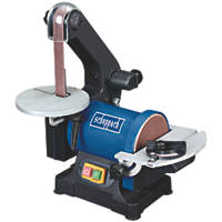 "Scheppach BTS700 1"" 250W Brushless Electric Belt & Disc Sander 230V"