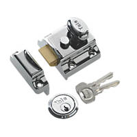 Yale 706 Traditional Night Latch Polished Chrome-Plated 40mm Backset