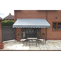Greenhurst Berkeley Easy Fit Awning Grey / White 3.5 x 2.5m