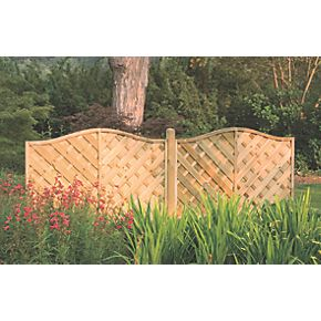 forest strasburg fence panels 1 8 x 3 pack. Black Bedroom Furniture Sets. Home Design Ideas