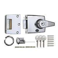 ERA 193-37-1 Double Locking Night Latch  Polished Chrome 60mm Backset