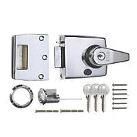 ERA 193-37-1 Double Locking Night Latch  Polished Chrome 60mm Backset