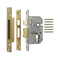 ERA Polished Brass Euro Sashlock 65mm Case - 44mm Backset