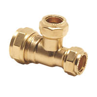 Pegler PX50D Brass Compression Reducing Tee 22 x 15 x 15mm