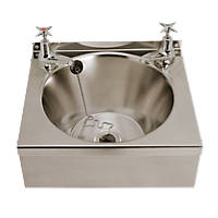 Franke Model B Wall-Hung Washbasin 2 Taps Stainless Steel 1 Bowl 340 x 345mm