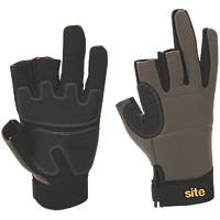 Site KF420 3-Finger Framer Performance Gloves Grey / Black Large