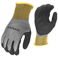 Stanley SY18L EU Water-Resistent Grip Gloves Black/Yellow/Grey Large