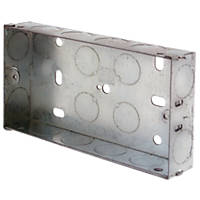 LAP  2-Gang Galvanised Steel Installation Boxes 25mm 10 Pack
