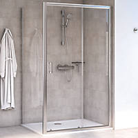 Aqualux Edge 6 Rectangular Shower Enclosure LH/RH Polished Silver 1000 x 760 x 1900mm