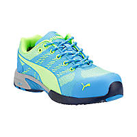 Puma Celerity Knit  Ladies Safety Trainers Blue/Green Size 6.5