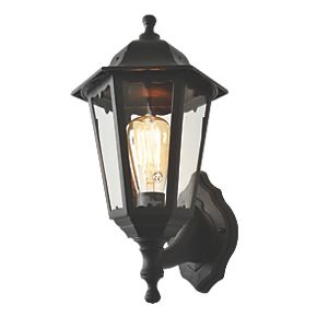 zinc black up down lantern wall light outdoor wall. Black Bedroom Furniture Sets. Home Design Ideas