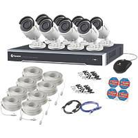 Swann SWNVK-880008-UK 8-Channel 4K CCTV NVR Kit with 8 Cameras