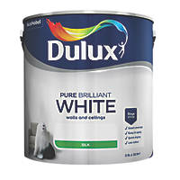 Dulux Silk Emulsion Paint Pure Brilliant White 2.5Ltr
