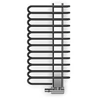 Terma Michelle Designer Towel Rail 780 x 400mm Black / Chrome 1244BTU