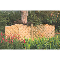 Forest Strasburg Fence Panel Fence Panels 1.8 x 1.2m 4 Pack