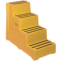 Polyethylene 4-Step Safety Steps 820mm Yellow