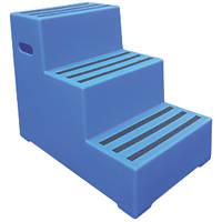Polyethylene 3-Step Safety Steps 620mm Blue