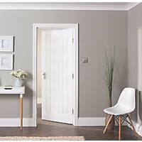 Jeld-Wen  Primed White Wooden Cottage Internal Door 1981 x 762mm