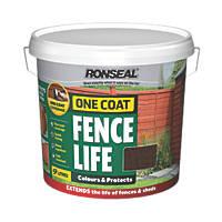 Ronseal 1 Coat Fencelife 9L Dark Oak