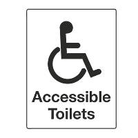 """Accessible Toilets"" Sign 200 x 150mm"