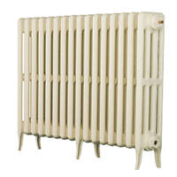 Arroll  4-Column Cast Iron Radiator 660 x 874mm Cream