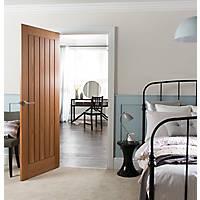 Jeld-Wen Oregon Unfinished Oak Veneer Wooden Cottage Internal Fire Door 2040 x 826mm