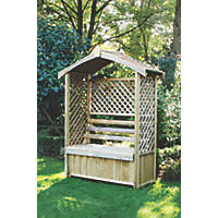 Forest Lyon Arbour Natural Wood 1560 x 670 x 2000mm