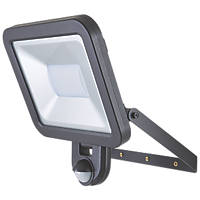 LAP  LED PIR Floodlight Black 50W Daylight