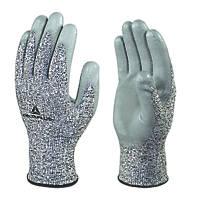 Delta Plus Venicut58 Cut 5 PU-Coated Palm Gloves Grey  Large 3 Pack