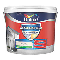 Dulux Weathershield Smooth Masonry Paint Magnolia 10Ltr