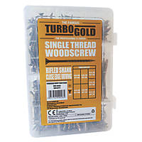 TurboGold PZ Double-Countersunk Woodscrew Handy Pack 380 Pieces
