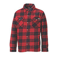 "Dickies Portland Padded Shirt Red/Black  50"" Chest"